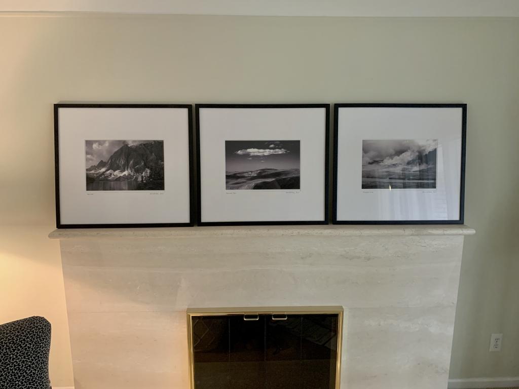Grouping of three black & white photographs
