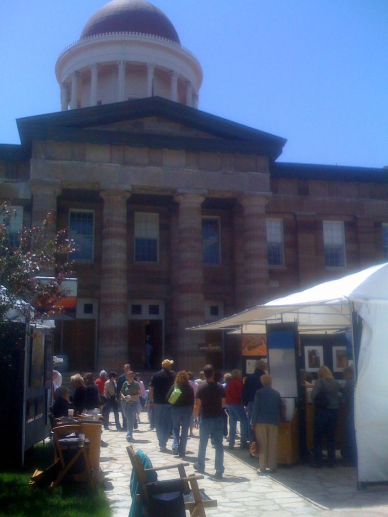 Saturday afternoon at the Old Capitol Art Fair