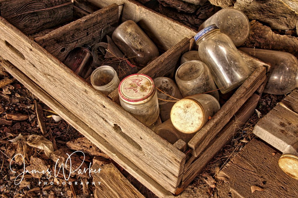 jars and crate